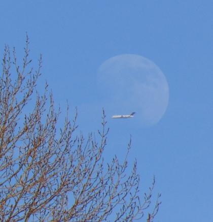 moon, plane